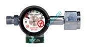 Compact preset 50 psi Oxygen regulator CGA540 Diss-0