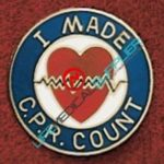 Uniform Pin I made CPR count Ref: 001-X533-0