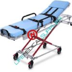 X Frame ambulance cot w/mattress-straps and FDA approved-0