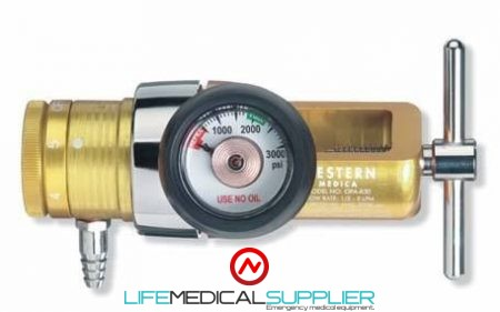 Oxygen regulator compact style 0-8 Lpm barbed OPA840-0