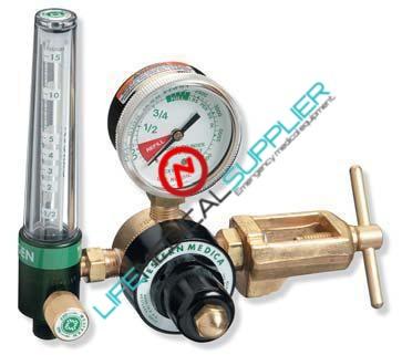 Non-magnetic OXYGEN regulator with flowmeter 15 lpm-0