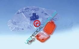 Adsafe™ PLUS CPR Face Shield w/Key Chain Orange-0