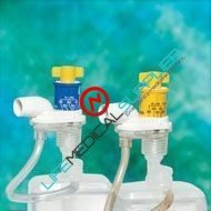 Nebulizer Adapter Yellow 50/box-0
