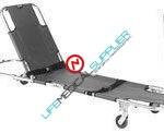 EASY FOLD swivel wheeled stretcher w/backrest 604S-0