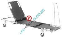 EASY FOLD swivel wheeled stretcher w/backrest 604S-0