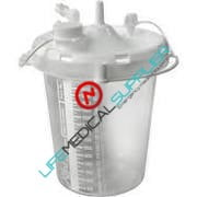 Disposable jar1500 ml stem inlet, 48/case-0