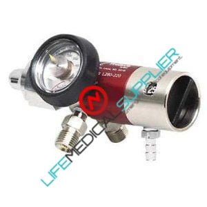 Oxygen regulator 0-25 lpm barbed 2 CHECK VALVES-0