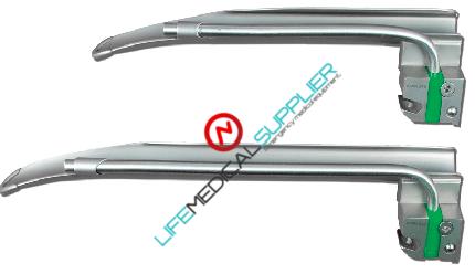 GreenLine® laryngoscope blade Miller English RT/LT #2-0