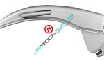 Fiber optic laryngoscope Polio Blade English Profile #3-0