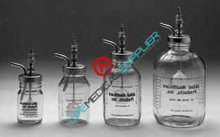 Polycarbonate bottle Autoclavable 1/2 gallon metal cover/float-0