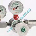 Oxygen regulator single stage flow gauge 0-15 lpm-0