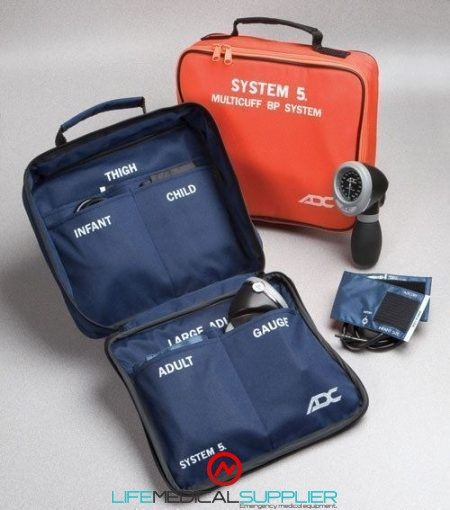 ADC 740 Multicuff 5 BP System, Navy Blue-0