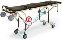 Single person mortury cot with side rails-0