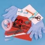 AED MicroMask first responder kit in poly bag 78-800-0