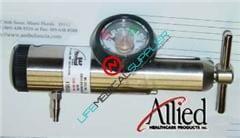 B and F Oxygen regulator 0-25lpm barbed w/gauge-0