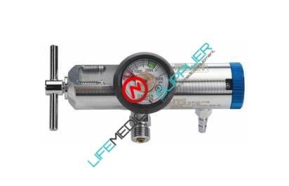 Meret Brass EMS oxygen Regulator 0-25 lpm barb outlet-0