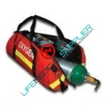 Oxygen duffle kit w/oxygen tank /supplies-0
