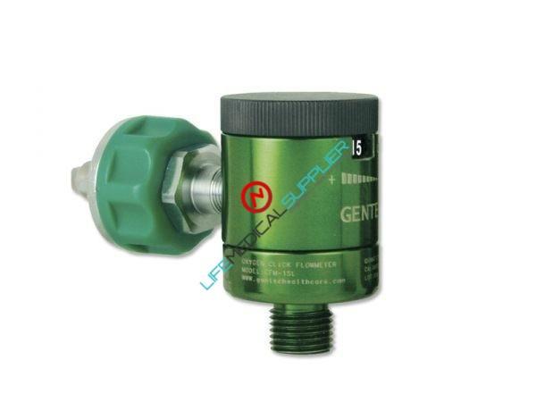 Click style 0-15 LPM Oxygen flowmeter w/Ohmeda adapter-0
