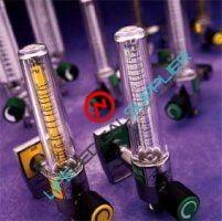 Timeter Oxygen flow meter 8 lpm Ohmeda adapter-0