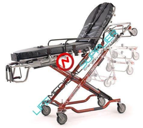 Proflexx 35-X X-frame Ambulance cot w/universal side arms-0