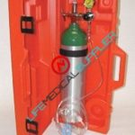 Emergency kit w/cylinder type D in hard case 1528E-0