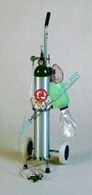 Oxygen crash cart kit w/cylinder type E and BVM-0