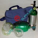 Oxygen kit in carrying bag with manual resuscitator/cylinder/regulator-0