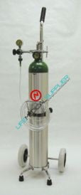 Oxygen therapy kit w/E cylinder/regulator 0-15lpm-0