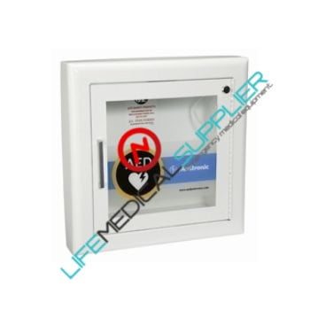 AED Wall Cabinet with Alarm - Semi-Recessed-0