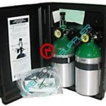 Emergency oxygen kit dual cylinder/regulator 6 lpm/mask-0