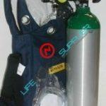 oxygen kit in shoulder bag w/cylinder type D regulator 2-15lpm-0