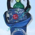Oxygen shoulder kit w/cylinder type D regulator 2-8 lpm-0