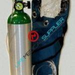 oxygen kit in shoulder bag w/cylinder type D, regulator 2-15lpm-0