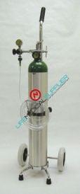 Portable Oxygen Kit w/cylinder type E regulator 0.5 -5 lpm-0