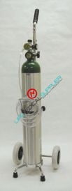 Homecare Oxygen Kit w/Cylinder type E regulator 2-15 lpm-0