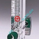 Acrylic-block oxygen flowmeter 0-1 lpm w/Chemetron QC-0