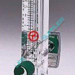 Acrylic-block oxygen flowmeter 0-200 cc w/Chemetron QC-0