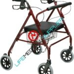 Heavy Duty Bariatric Rollator Walker w/ Large Padded Seat-0